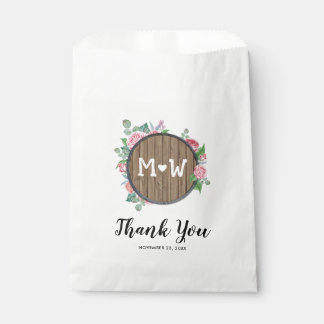 Rustic Country Floral Candy Popcorn Wedding Favour Bags