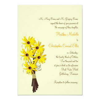 Rustic Country Floral Wedding Invitation