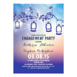 rustic country garden lights engagement party custom announcement
