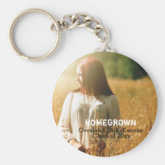 Rustic Country Graduation Photo Class of 2016 Basic Round Button Key Ring