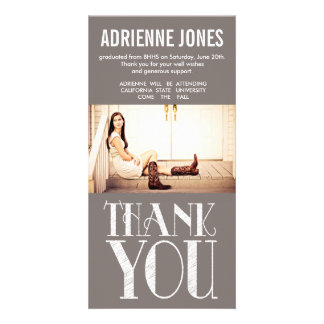 Rustic Country Graduation Thank You Photo Photo Card Template