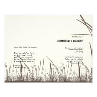 Rustic Country Grasslands Wedding Program Custom Flyer