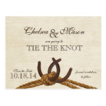 Rustic Country Horse Shoes Save the Date Post Card