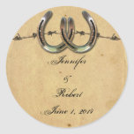 Rustic Country Horseshoes Barbed Envelope Seal
