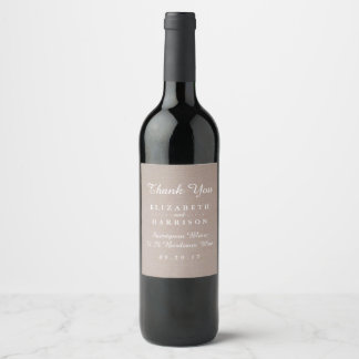 Rustic Country Kraft Wedding Thank You Favor Wine Label
