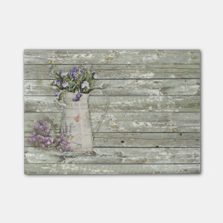 rustic country lavender primitive barn wood post-it® notes