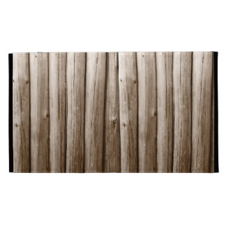 Rustic Country Log Cabin Distressed Vintage Wood iPad Folio Covers