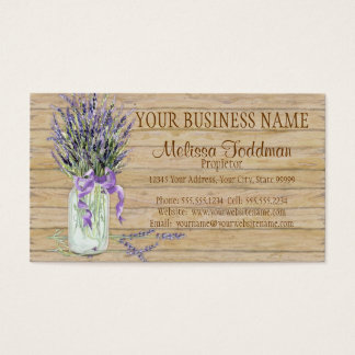 Rustic Country Mason Jar French Lavender Bouquet