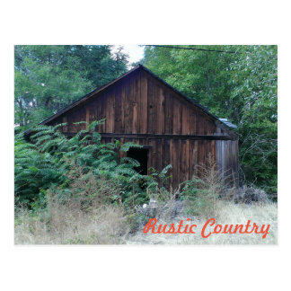 Rustic Country Postcard