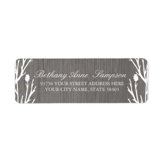 Rustic Country Return Address Labels