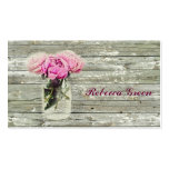 rustic country rose mason jar wedding pack of standard business cards