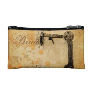 rustic country summer daisy wedding bride cosmetic bag
