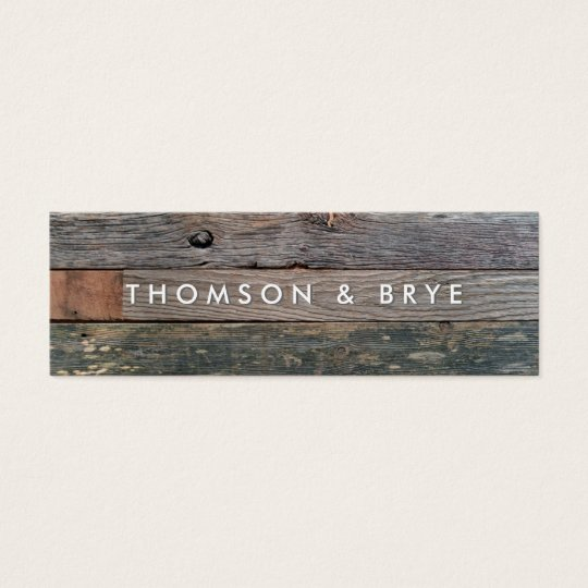 Rustic Country Vintage Reclaimed Wood Nature Mini Business