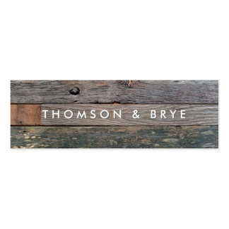 Rustic Country Vintage Reclaimed Wood Nature Pack Of Skinny Business Cards