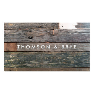 Rustic Country Vintage Reclaimed Wood Nature Pack Of Standard Business Cards