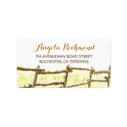 rustic country wedding address labels