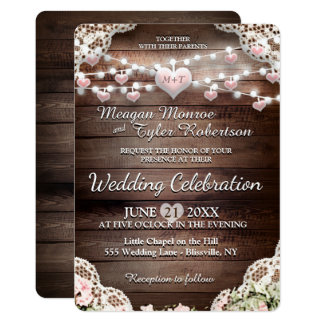 Rustic Country Wedding Card