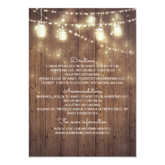 Rustic Country Wedding Details - Information 11 Cm X 16 Cm Invitation Card