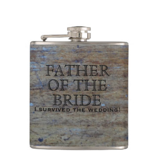 Rustic Country Wedding | Funny Father of the Bride Flask