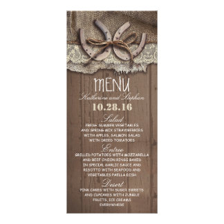 rustic country wedding menu cards