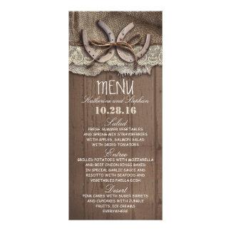 rustic country wedding menu cards rack card
