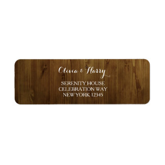 Rustic Country Wedding Return Address Labels