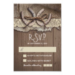 Rustic country wedding RSVP cards Custom Announcement