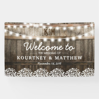 RUSTIC COUNTRY WEDDING | STRING OF LIGHTS BANNER