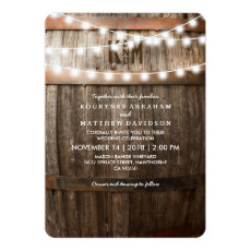 Rustic Country Wedding | Vineyard Marriage Invite