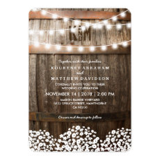 Rustic Country Wedding | String Lights Invite