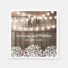 RUSTIC COUNTRY WEDDING | STRING OF LIGHTS DISPOSABLE NAPKIN