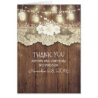 Rustic Country Wedding Thank You Card