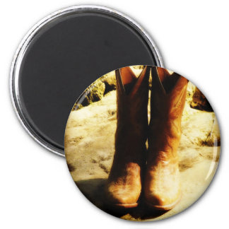 Rustic Country Western Cowboy Boots in Sunlight Magnet
