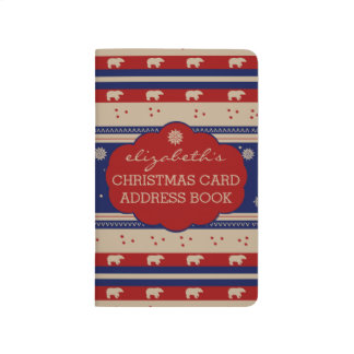 Rustic Country Winter-Christmas Card Address Book- Journal