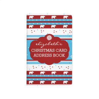 Rustic Country Winter Christmas Card Addresses Journal