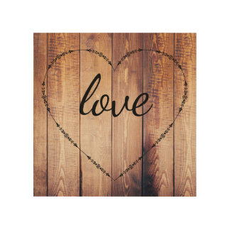 Rustic Country Wood Love Sign