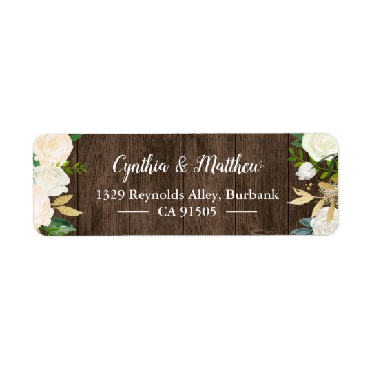 Rustic Country Wood White Gold Garden Flowers