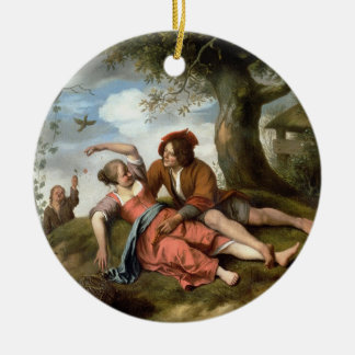 Rustic Courtship Christmas Ornament