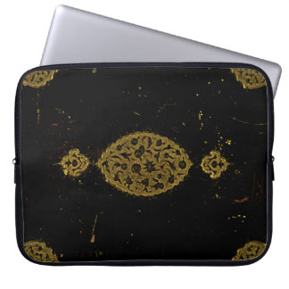 Rustic Covers Black And Gold Gothic Laptop Sleeve