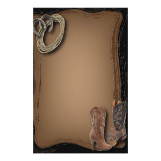 Rustic Cowboy Western Country Sationery Personalized Stationery