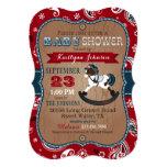 Rustic Cowboy Western Rocking Horse Baby Shower 13 Cm X 18 Cm Invitation Card