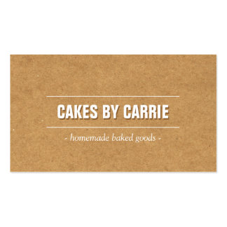 Rustic Craft Cardboard Bakery/Catering/Chef Pack Of Standard Business Cards
