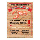 Rustic Crawfish Boil Party Poster Invitations