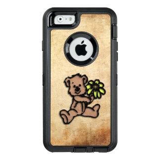 Rustic Daisy Bear Design OtterBox Defender iPhone Case