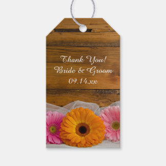 Rustic Daisy Trio Country Barn Wedding Favor Tags
