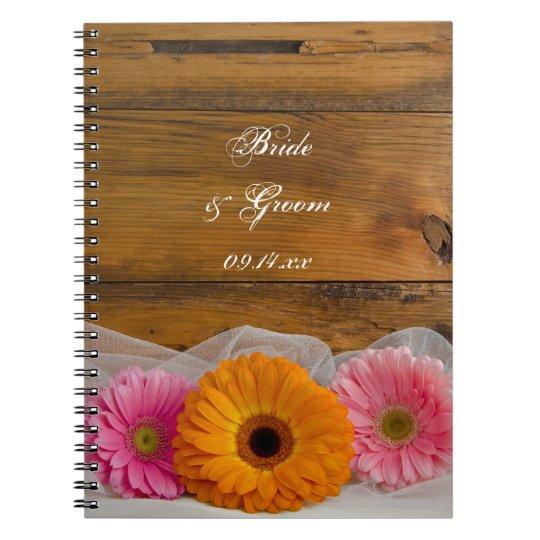 Rustic Daisy Trio Country Wedding Notebooks