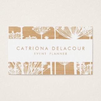 Rustic Dandelions on Wood Pattern Business Card