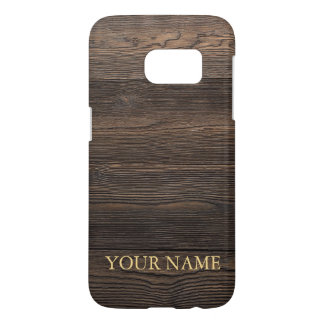 Rustic Dark brown WOOD LOOK texture personalized