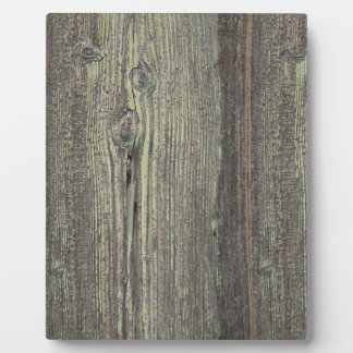 Rustic Dark Weathered Wood Background Plaque