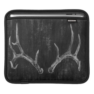 Rustic Deer Animal Head on Chalkboard Sleeve For iPads